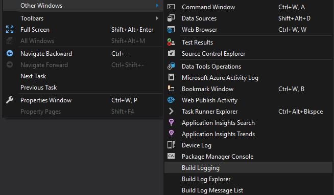 Chasing an MSBuild task devenv exe file lock